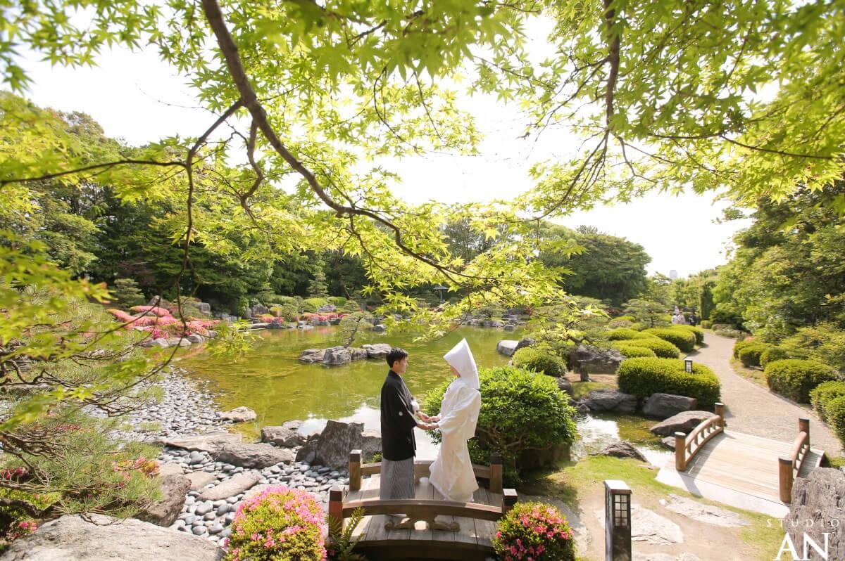 新緑の大濠日本庭園