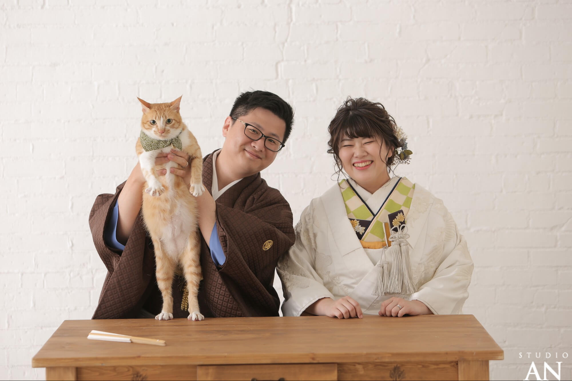 猫ちゃんとフォトウエディング