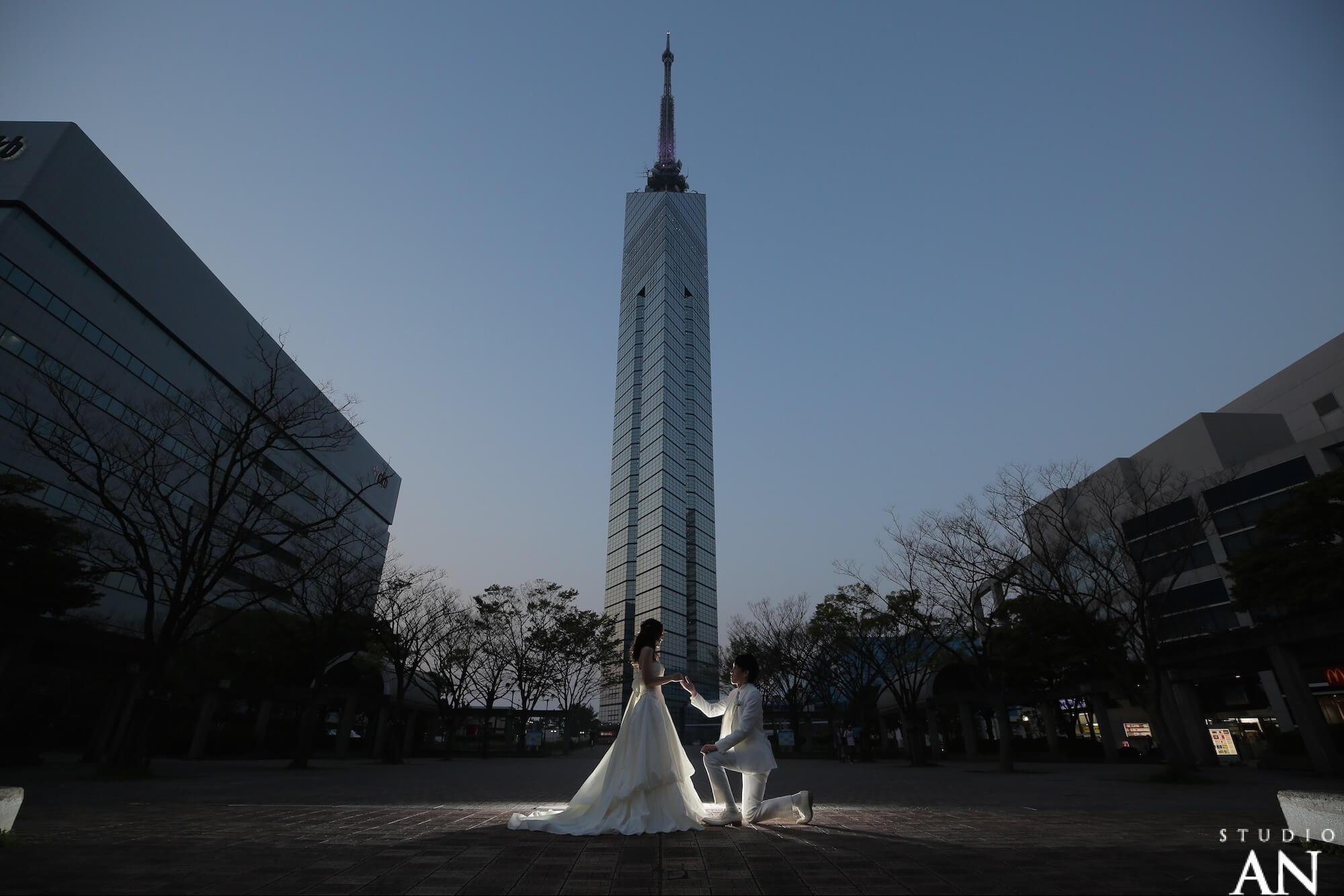 糸島ロケーションと、福岡タワーで夜景撮影!