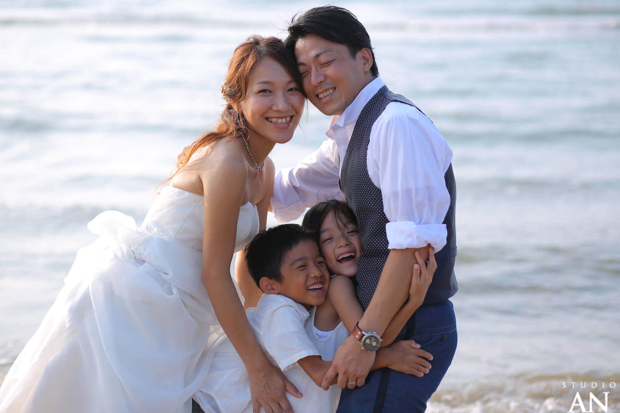 家族みんなで海に行きました!